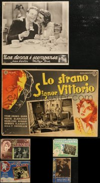 7f0005 LOT OF 6 1930S ITALIAN LOBBY CARDS 1930s great scenes from a variety of movies!