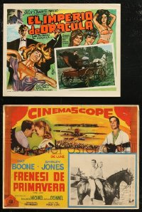 7f0012 LOT OF 4 MEXICAN LOBBY CARDS 1940s-1960s great scenes from a variety of different movies!