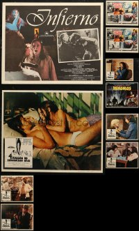 7f0010 LOT OF 10 DARIO ARGENTO MEXICAN LOBBY CARDS 1970s-1980s from four of his horror movies!