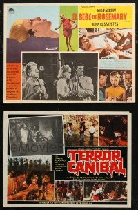 7f0011 LOT OF 6 MEXICAN LOBBY CARDS 1960s-1980s great scenes from a variety of different movies!