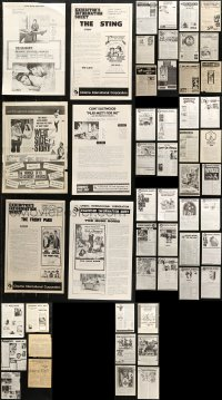 7f0013 LOT OF 52 UNCUT AUSTRALIAN PRESS SHEETS 1960s-1970s advertising a variety of movies!