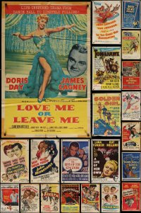 7f0176 LOT OF 32 FOLDED ONE-SHEETS 1950s great images from a variety of different movies!
