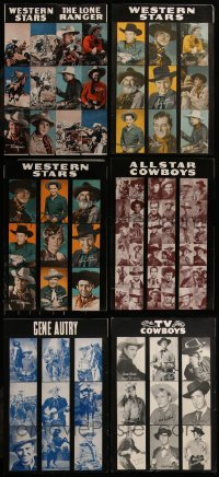 7f0025 LOT OF 6 UNFOLDED COWBOY WESTERN ARCADE CARD 12.5X18.5 SPECIAL POSTERS 1940s-1950s cool!
