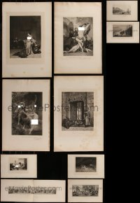 7f0041 LOT OF 16 BOOKPLATES 1900s great black & white artwork & photos with some nudity!