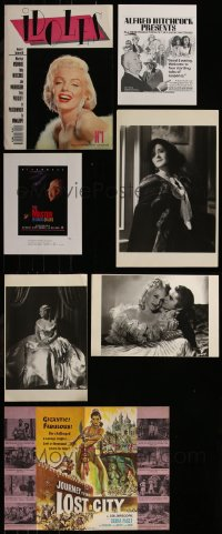 7f0036 LOT OF 11 BOOK PAGES AND MISCELLANEOUS ITEMS 1930s-1980s a variety of great movie images!