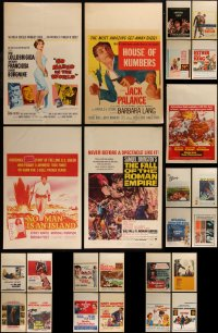 7f0016 LOT OF 25 WINDOW CARDS 1950s-1970s great images from a variety of different movies!