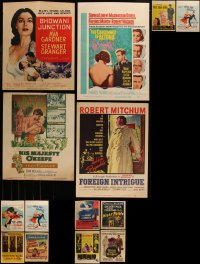 7f0020 LOT OF 14 TRIMMED WINDOW CARDS 1950s-1960s great images from a variety of different movies!