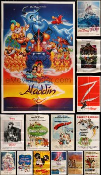 7f0213 LOT OF 15 FOLDED 1970S-90S WALT DISNEY ONE-SHEETS 1970s-1990s animated & live action!