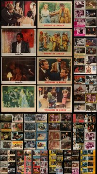 7f0248 LOT OF 152 LOBBY CARDS 1940s-1990s incomplete sets from a variety of different movies!