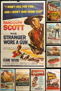 7f0228 LOT OF 11 FOLDED COWBOY WESTERN ONE-SHEETS 1950s-1960s a variety of great images!