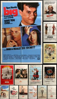 7f0205 LOT OF 17 FOLDED 1970S-80S COMEDY ONE-SHEETS 1970s-1980s a variety of movie images!