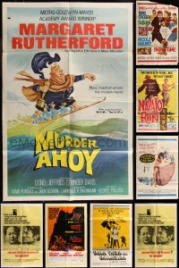 7f0227 LOT OF 12 FOLDED 1960S ONE-SHEETS 1960s great images from a variety of different movies!