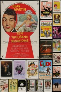 7f0157 LOT OF 55 FOLDED ONE-SHEETS 1950s-1990s great images from a variety of different movies!