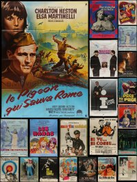7f0006 LOT OF 23 FOLDED FRENCH ONE-PANELS 1950s-1990s great images for a variety of movies!