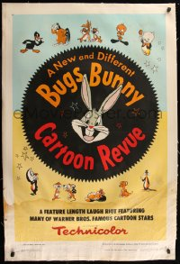 7h0012 BUGS BUNNY'S CARTOON REVUE linen 1sh 1953 he's new & different, plus Daffy & Porky, rare!
