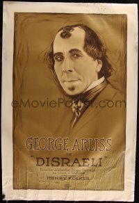 7h0016 DISRAELI linen 1sh 1921 George Arliss as the Jewish British Prime Minister, ultra rare!