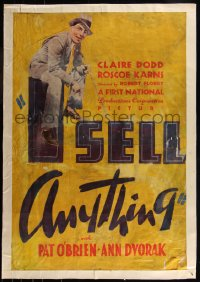 7h0004 I SELL ANYTHING 1sh 1934 auctioneer Pat O'Brien sitting on the title, ultra rare!