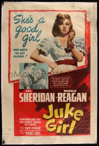 7h0007 JUKE GIRL 1sh 1942 sexy Ann Sheridan is a good girl for Ronald Reagan to leave alone!