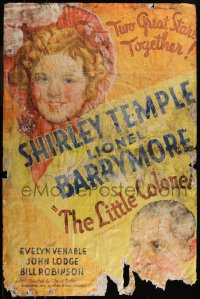 7h0003 LITTLE COLONEL style B 1sh 1935 art of Shirley Temple & Lionel Barrymore, ultra rare!