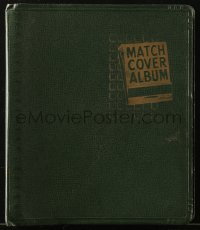 7h0040 BEACHCRAFT MATCH COVER ALBUM 10x11 loose leaf binder 1950s store all your matchbooks inside!
