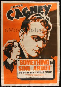 7h0022 SOMETHING TO SING ABOUT linen 1sh R1940s art of James Cagney & Evelyn Daw, ultra rare!