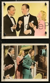 7k0028 ARSENE LUPIN RETURNS 7 color 8x10 stills 1938 detective John Halliday & pretty Virginia Bruce!