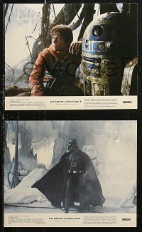 7k0007 EMPIRE STRIKES BACK 8 8x10 mini LCs 1980 George Lucas classic, cool images w/slugs!