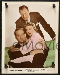 7k0009 FAST COMPANY 8 color 8x10 stills 1938 Melvyn Douglas, Florence Rice, Claire Dodd