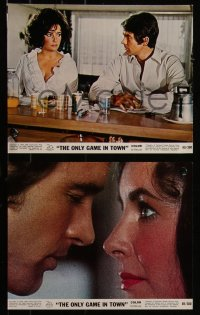 7k0013 ONLY GAME IN TOWN 8 color 8x10 stills 1969 Elizabeth Taylor & Warren Beatty in Las Vegas!