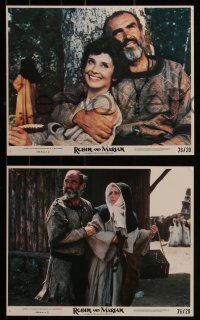 7k0005 ROBIN & MARIAN 9 8x10 mini LCs 1976 great images of Sean Connery & Audrey Hepburn!