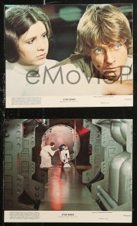 7k0038 STAR WARS 6 8x10 mini LCs 1977 A New Hope, Lucas classic epic, Luke, Leia, great images!