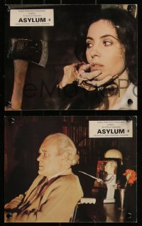 7k0003 ASYLUM 12 color English FOH LCs 1972 Cushing, Ekland, Rampling, Lom, by Robert Bloch!