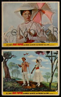 7k0037 MARY POPPINS 6 color English FOH LCs 1964 Dick Van Dyke, Glynis Johns, Disney's classic!