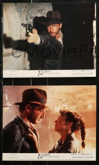 7k0015 RAIDERS OF THE LOST ARK 8 color English FOH LCs 1981 Harrison Ford & Karen Allen, ultra rare!
