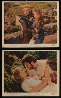 7k0026 VIKINGS 8 color English FOH LCs 1958 great images of Kirk Douglas, Tony Curtis & Janet Leigh!