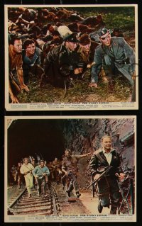 7k0027 VON RYAN'S EXPRESS 8 color English FOH LCs 1965 Frank Sinatra, Trevor Howard, Raffaella Carra!