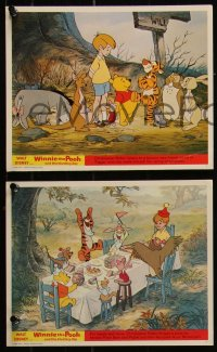 7k0035 WINNIE THE POOH & THE BLUSTERY DAY 7 color English FOH LCs 1969 A.A. Milne, Tigger, Piglet!