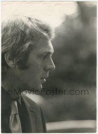 7p0001 STEVE McQUEEN English 8.5x11.75 still 1960s great super close-up profile in suit and tie!