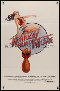 7p0695 KENTUCKY FRIED MOVIE 1sh 1977 John Landis directed comedy, rare chickenbomb style!