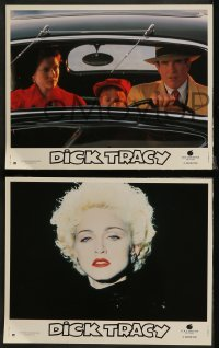 7p0041 DICK TRACY 12 French LCs 1990 Warren Beatty, Madonna, Al Pacino!