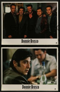 7p0044 DONNIE BRASCO 12 French LCs 1997 Al Pacino is betrayed by undercover cop Johnny Depp!