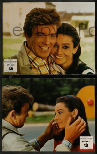 7p0031 TWO FOR THE ROAD 18 French LCs 1967 great images of Audrey Hepburn & Albert Finney!
