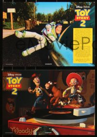7p0022 TOY STORY 2 8 German LCs 2000 Woody, Buzz Lightyear, Disney and Pixar animated sequel!