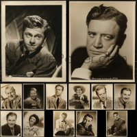 7s0007 LOT OF 15 16X20 OVERSIZED STILLS 1940s great portraits of leading & supporting stars!