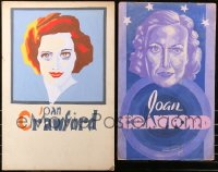 7s0002 LOT OF 2 LOCAL THEATER JOAN CRAWFORD SPECIAL POSTERS 1930s-1940s cool different art!