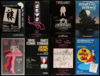 7s0042 LOT OF 8 STAGE PLAY WINDOW CARDS 1980s great images from a variety of different shows!