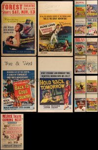 7s0037 LOT OF 17 UNIVERSAL WINDOW CARDS 1950s great images from a variety of different movies!