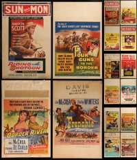7s0039 LOT OF 16 COWBOY WESTERN WINDOW CARDS 1950s great images from several movies!