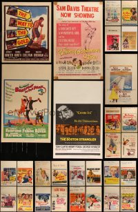 7s0035 LOT OF 33 WINDOW CARDS 1950s-1960s great images from a variety of different movies!