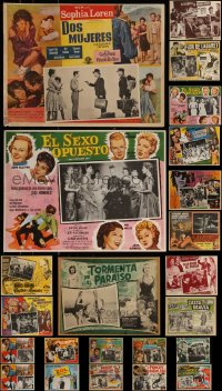 7s0026 LOT OF 23 MEXICAN LOBBY CARDS 1950s-1970s cool scenes from a variety of different movies!